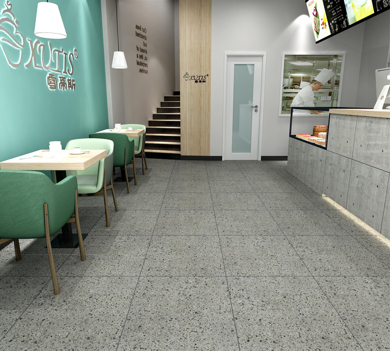 Pepper tiles on Matt Surface of Glazed Ceramic Tile use in Flooring 600x600mm-3D6310-